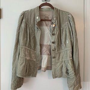 Anthropologie Elevenses Velvet Jacket